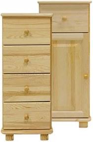 AMI nábytok komoda č33 hloubka 42 borovice dveře