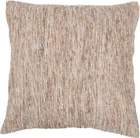 Béžová vzorovaná obliečka na vankúš Tiseco Home Studio Natural, 45 x 45 cm