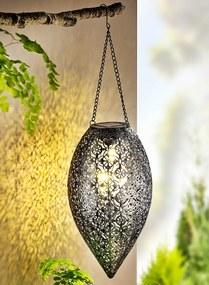 Solárne závesná dekorácia Orient, strieborná