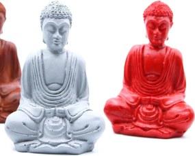 Matný Mini Buddha (Rôzne Farby) Farba: Šedý