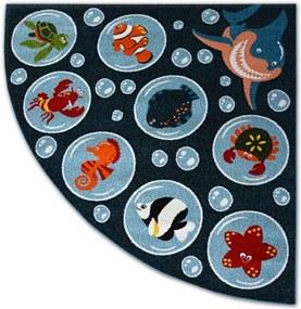 Detský kusový koberec Oceán modrý, Velikosti 200x200cm