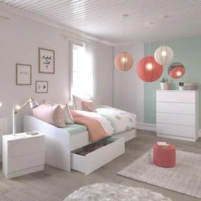 Detská izba pre dievča Haven v ponuke dielov - Detská posteľ so sadou šuplíkov Janis