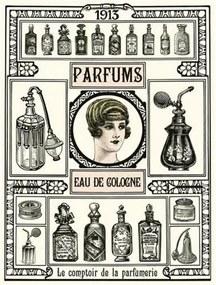 Retro tabula, rozmer 40 x 30 cm, Parfums, IMPOL TRADE PT109T2