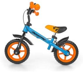 MILLY MALLY Milly Mally Dragon Detské odrážadlo kolo Milly Mally Dragon s brzdou orange-blue Oranžová |