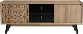 TV komoda v dekore dubového dreva Marckeric Ceilan