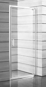 Sprchové dvere Jika Lyra plus jednokrídlové 90 cm, sklo číre, biely profil H2543820006681