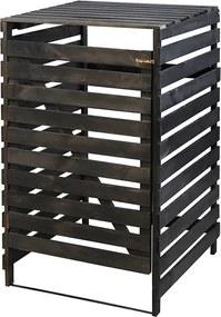 Drevený box na odpadovú nádobu OBK-120L-1-FAREBNÉ VARIANTY Povrchová úprava: Čierna
