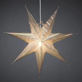 Dekoratívna hviezda z papiera, strieborná, 7–cípa