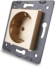 LIVOLO EU-FK-13 Elektrická zásuvka - SCHUKO zlatá