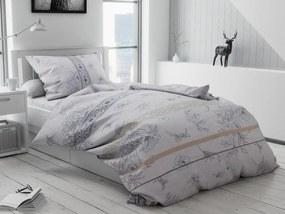 Bavlnené obliečky Čeněk krémové Rozmer obliečok: 2 ks 70 x 90 cm, 200 x 220 cm