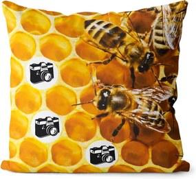 Fotovankúš Včelí úľ 40x40 cm