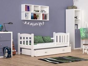 GL Alan 160x70 Biela detská posteľ color