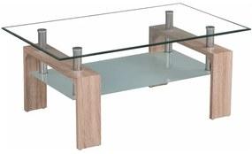 TEMPO KONDELA Libor CT1020 New konferenčný stolík dub sonoma / priehľadná