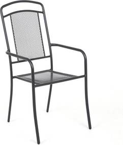 Záhradná kovová stolička Venezia - antracit