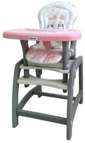 BABY MIX Bazar BAZÁREK Jedálenská stolička Baby Mix 2v1 ružová Ružová |