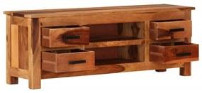 vidaXL TV skrinka 110x30x40 cm masívne sheeshamové drevo