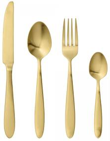 Bloomingville Sada príborov Brass Finish - set 4 ks
