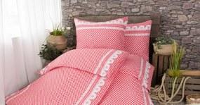 XPOSE ® Bavlněné povlečení na dvě lůžka APOLENA - červená 140x200, 70x90