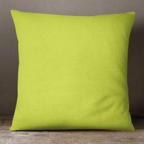 Goldea dekoračná obliečka na vankúš loneta - zelená 45 x 45 cm