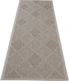 Kusový koberec Nature béžovosivý atyp, Velikosti 60x200cm