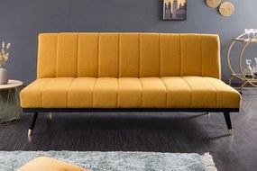 Dizajnová rozkladacia sedačka Halle 180 cm horčicová žltá