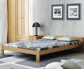 AMI nábytok Postel dub Isao VitBed 120x200cm + Matrace Heka 120x200