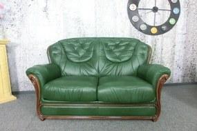 (2403) MALAGA MAGIA štýlový kožený dvojsed zelený