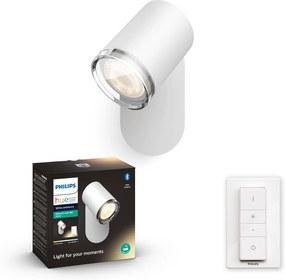 Philips HUE White Ambiance 34178/31/P6 Adore Kúpeľňový spot nástenné svietidlo GU10 5,5W/250lm 2200-6500K biela Bluetooth