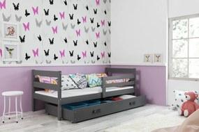BMS Detská jednolôžková posteľ ERYK   sivá Farba: Sivá / sivá, Rozmer.: 190 x 80 cm