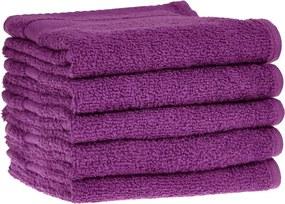 Detský uterák bavlnený 30x50 tmavo fialový EMI