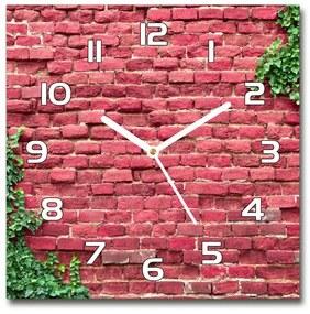 Sklenené hodiny štvorec Murovaná múr pl_zsk_30x30_f_76830523