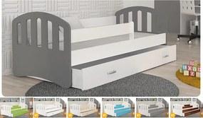 Šťastie sivá color detská posteľ 140x80