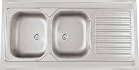Sinks nerezový drez CLP-A 1200 DUO M matný