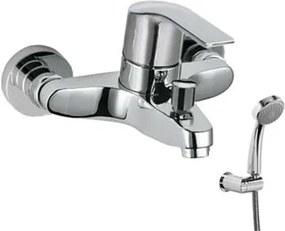 TRES - Jednopáková baterie pro vanu-sprchu Ruční sprcha snastavitelným držákem, proti usaz. vod. (06917002