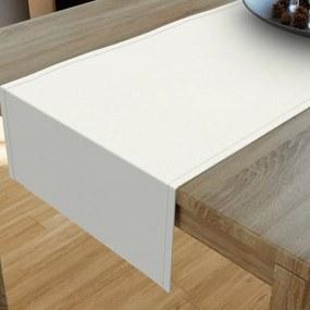 Goldea dekoračný behúň na stôl verona - smotanový 35x180 cm