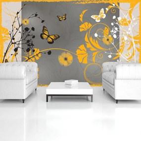 Fototapeta - Oranžové motýle (152,5x104 cm), 10 ďalších rozmerov