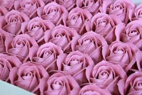 Staroružové mydlové ruže 50ks 6cm