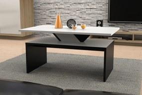 Mazzoni PRESTIGE SISI biely + čierny, konferenčný stolík, čiernobiely