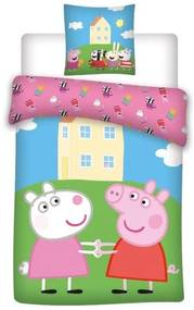 DETEXPOL Obliečky Peppa Pig kamarátky Bavlna, 140/200, 70/80 cm