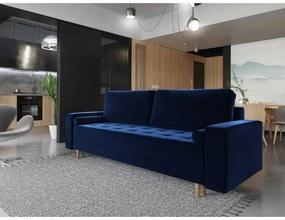 Pohovka s úložným priestorom modrá
