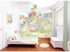 3D tapeta s motívom Farma Baby - výpredaj