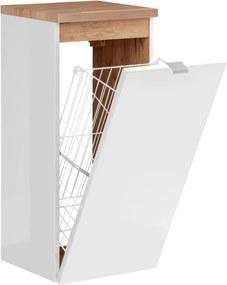 ArtCom Kúpeľňová zostava Capri | biela Capri | biela: Nízka spodná skrinka s košom 811