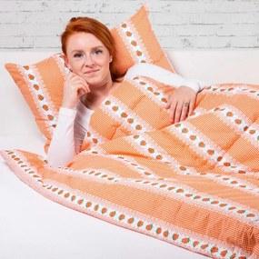 Stanex obliečky bavlna Barunka oranžová 140x200 70x90