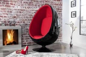 Kreslo Space Egg  čierna červená