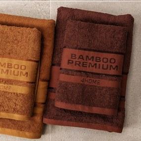 4Home Bamboo Premium uterák tmavohnedá, 50 x 100 cm, sada 2 ks
