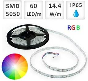 Optonica 1m RGB LED pásik vodeodolný 60 SMD5050 14.4W/m IP65