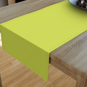 Goldea dekoračný behúň na stôl loneta - zelený 20x120 cm