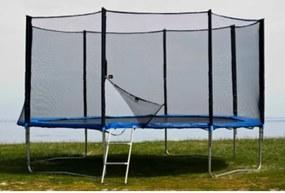FunFit Záhradná trampolína pre deti 490 cm s vonkajšou sieťou a rebríkom