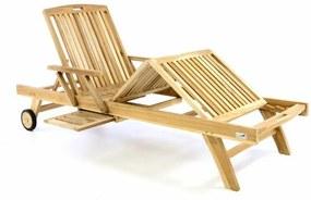 Luxusné drevené lehátko DIVERO - teakové drevo