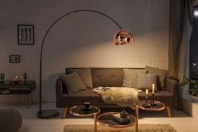Bighome - Stojaca lampa BIG BOW - medená, čierna